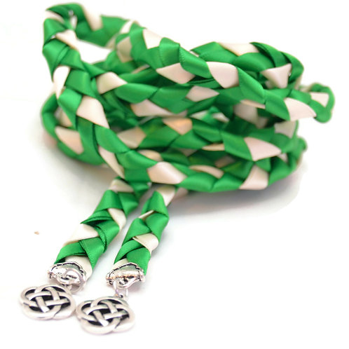 Emerald Silver Celtic Knot Wedding Handfasting Cord #Wedding #Handfasting