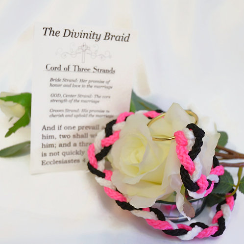 Divinity Braid Cord of Three Strands Dramatic Neon Pink Theme #Wedding