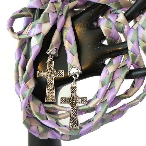 Lilac Sage Moss Cross Wedding Handfasting Cord #Wedding #HandfastingCord