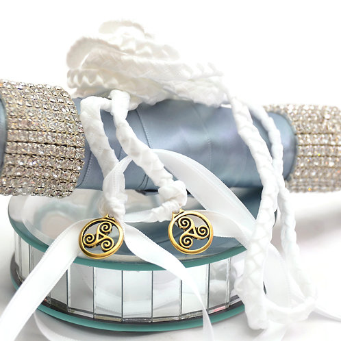 White Celtic Triskele Wedding Handfasting V2 Cord #DivinityBraid #Celtic #Handfa
