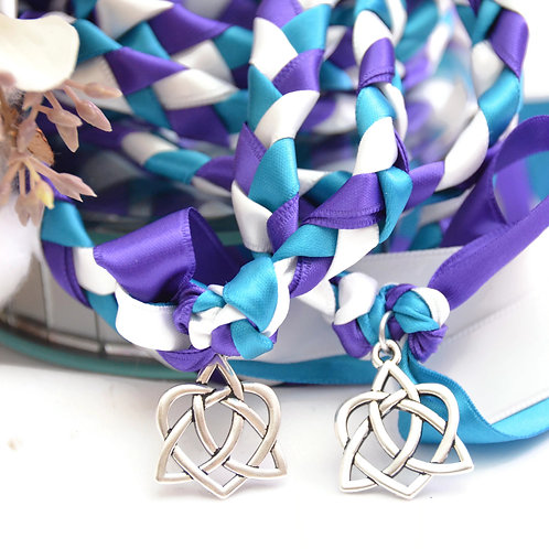 Divinity Braid Peacock Celtic Heart Knot v4 Wedding Handfasting Cord