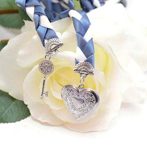 Steel Blue Key to Love Handfasting Cord #Wedding #Handfasting #KeyToLov