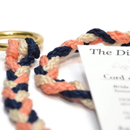 Navy Peach Divinity Braid Cord of Three Strands #Wedding #CordofThree