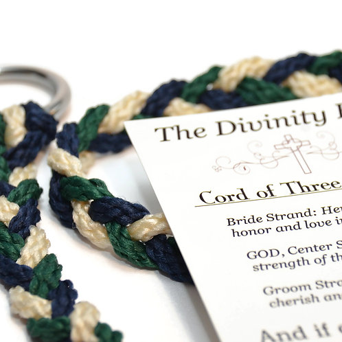 Forest Navy Divinity Braid Cord of Three Strands #Wedding #CordofThree