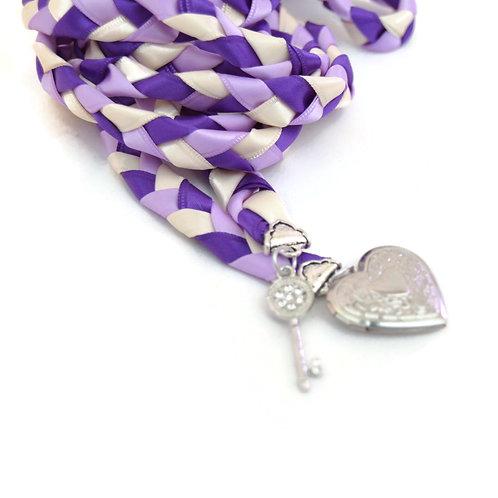 Puple Lilac Key to Love Handfasting Cord #Wedding #Handfasting #KeyToLove
