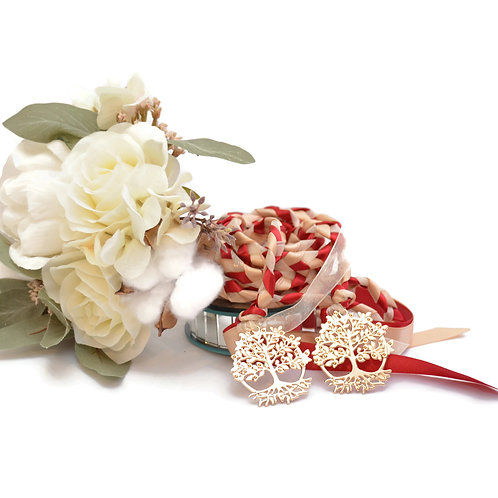 Scarlet Champagne Beltane Tree of Life Wedding Handfasting Cord #Weddin
