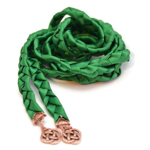 Emerald Copper Celtic Knot Wedding Handfasting Cord V4