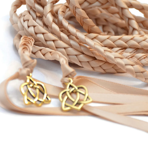 Champagne Gold Celtic Hear Wedding Handfasting Cord #Wedding #Hand