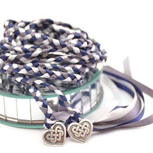Navy Pewter Celtic Heart Knot Wedding Handfasting Cord #handfasting #CelticKnot