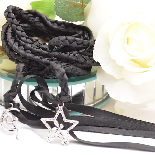 Black Moon Fairy Wedding Handfasting Cord #DivinityBraid #Handfastin