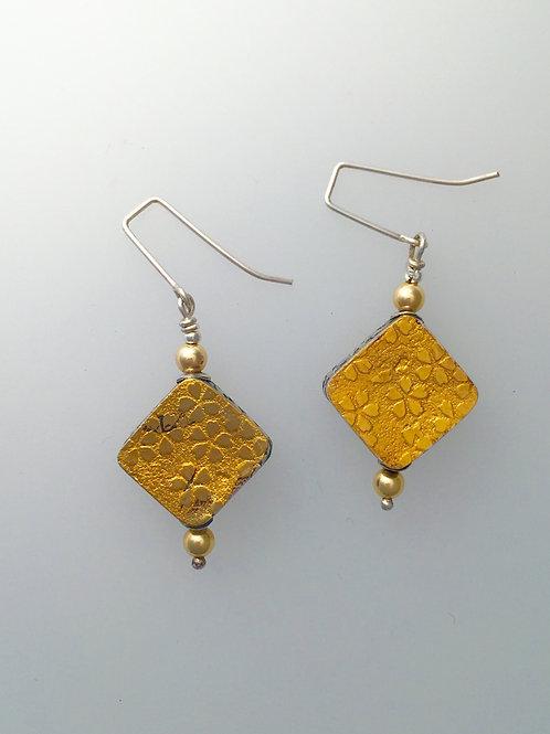 Two-tone Box Earrings