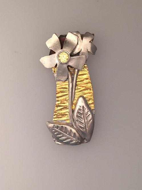 Button Flower Pendant