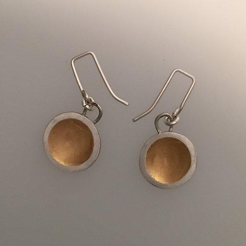 Two-tone Dome Earrings