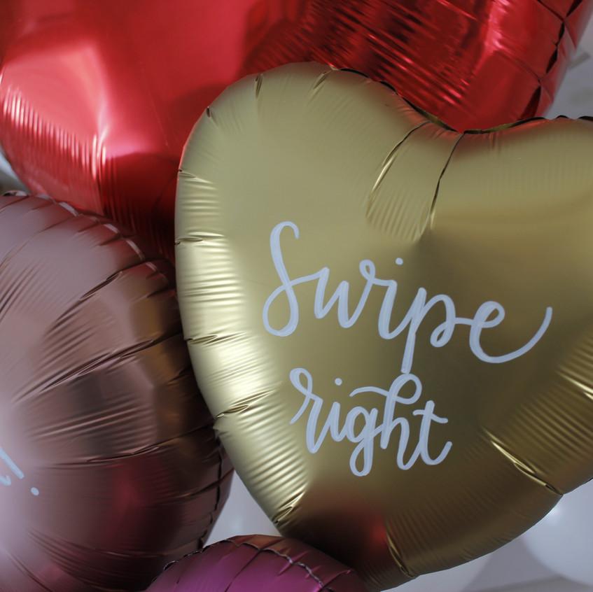 Conversation Heart Balloons