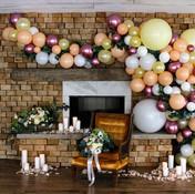 Wedding Balloon Garland, Boxed and Burlap