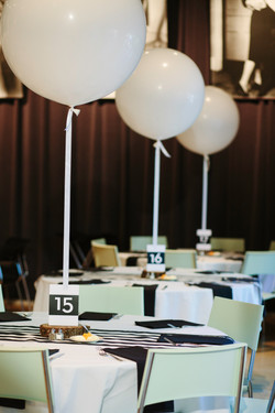 Black and White Balloon Wedding