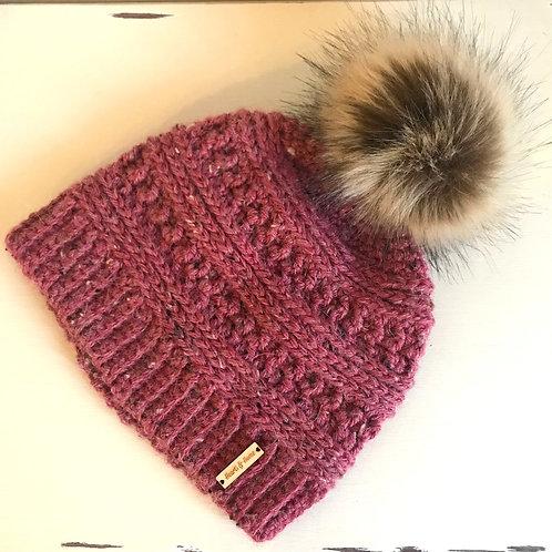 Alpaca Tweed Crochet Beanie Hat