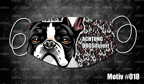 Motiv 018 DOGSifiziert Mund/Nasen-Maske