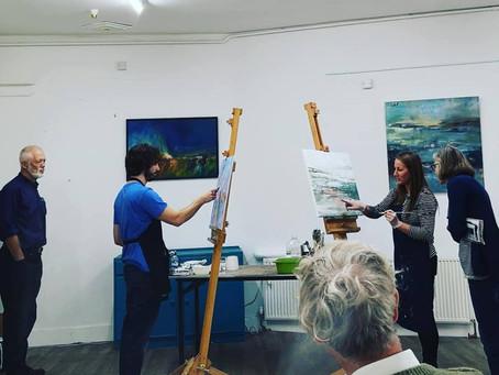 Live painting at Slaithwaite Arts Fetival