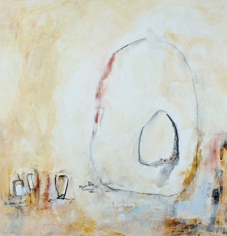 Among the Stones - diptych I