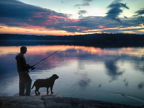 Fishing at Deer Lake