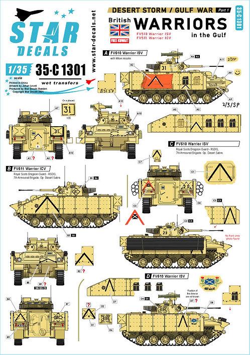 C1301 Star Decals Gulf War Part 1 Warriors