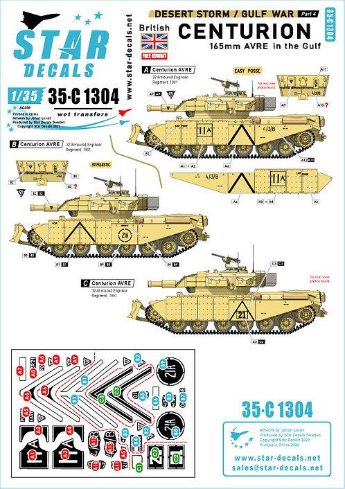 C1304 Star Decals Gulf War Part 4 Centurion AVRE