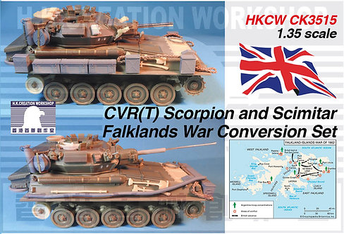 HKCW CK3515 CVR(T) Scorpion and Scimitar Falklands War Conversion Set