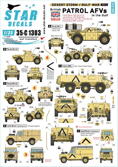 C1303 Star Decals Gulf War Part 3 Patrol AFVs