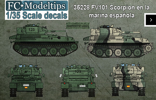 FCM35228 Spanish Navy Scorpion Decals