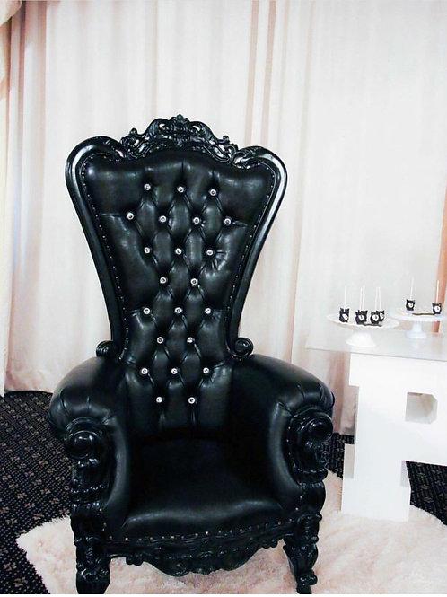All Black Single Throne