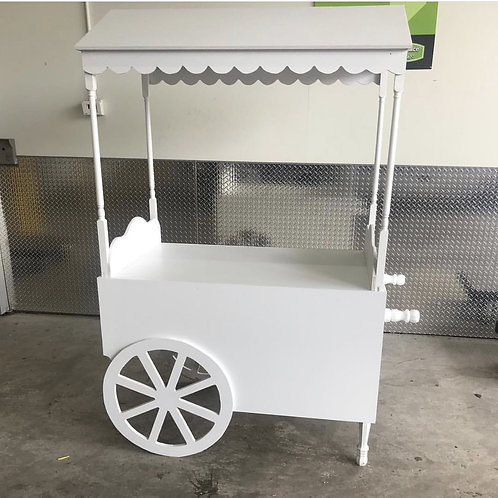 All White Candy Cart