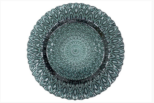 Peacock Teal Charger Plate