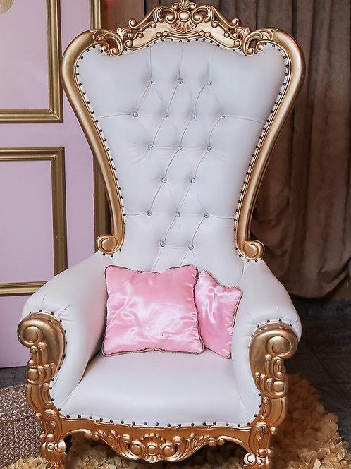 White/Gold Single Throne