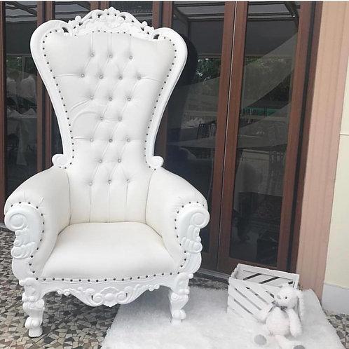 White/White Single Throne