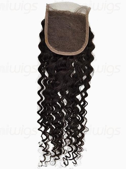 Mink Brazilian Deep Curly Closure