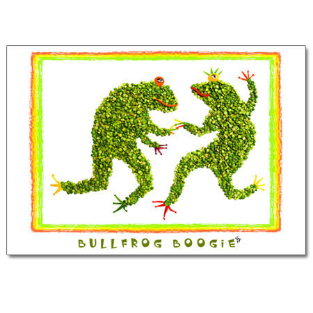 Bullfrog Boogie (greeting card)