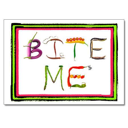 BITE ME (veggie letters)