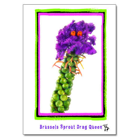 Brussels Sprout Drag Queen
