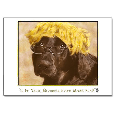 Blondes (greeting card)