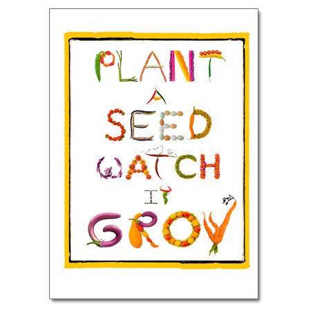 Plant A Seed, Watch It Grow (letters)