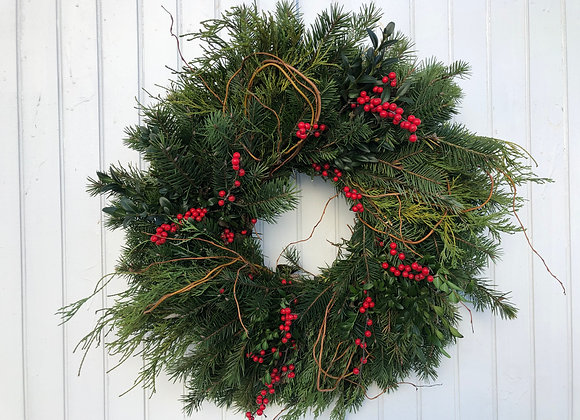 Evergreen Wreath - Winterberry