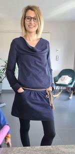 Robe allaitement bleu chiné