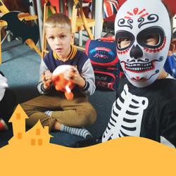 05-Orange Kids Party Halloween Invitatio