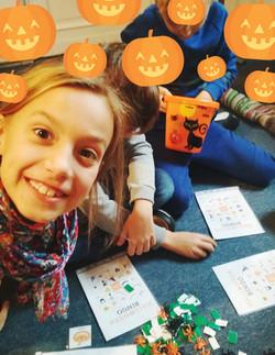 01-Orange Pumpkin Vector Halloween Menu.