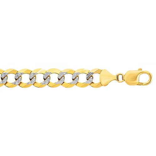 14k Concave with Diamond cuts Necklace
