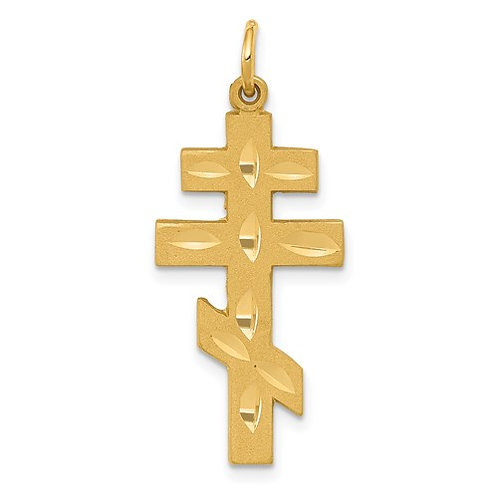 14K Eastern Orthodox Cross