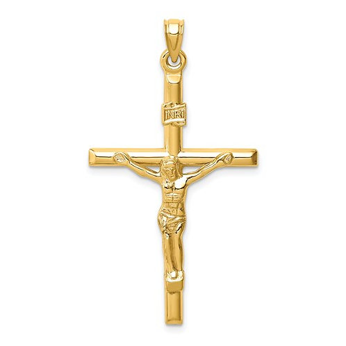 14k Hollow Crucifix