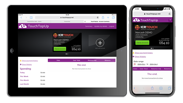 Touch Top Up Mobile devices with Shadow.