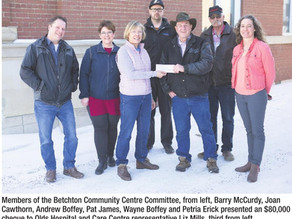 Bechton Community Centre Committee Supports Olds Healthcare